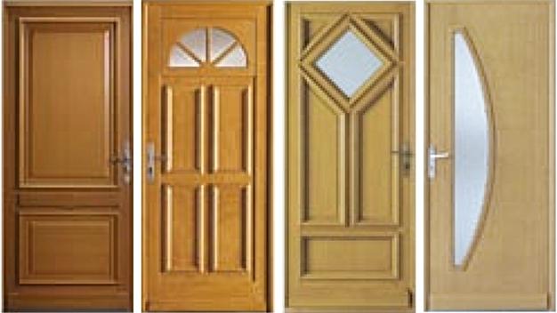 Prix porte en bois porte en bois qualit porte en bois r sistant machine parpaing pav for Prix porte maison exterieur