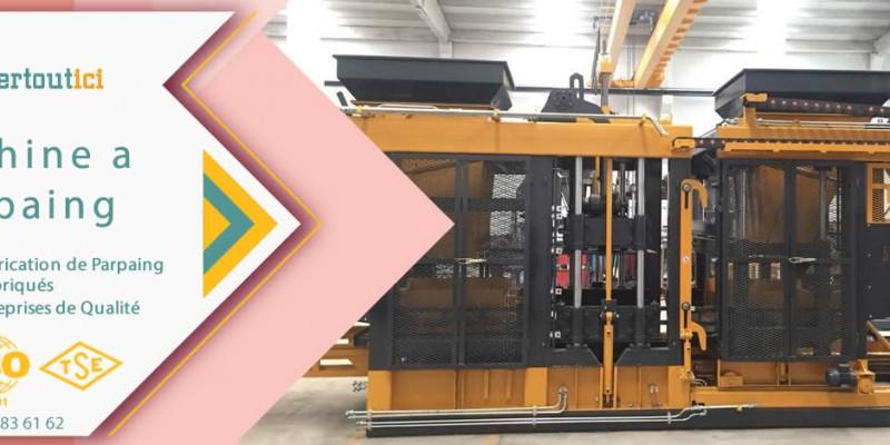 machine a parpaing, machine a pave, machine a bordure, machine de hourdis et des caniveaux