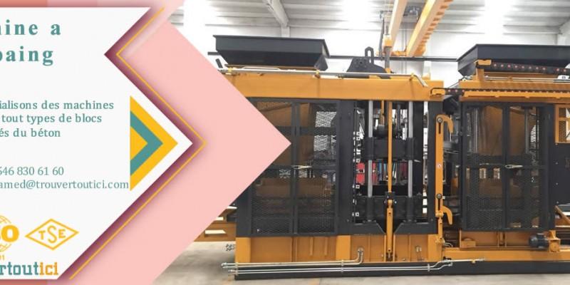 machine parpaing, machine pave, machine bordure, machine hourdis, machine caniveaux